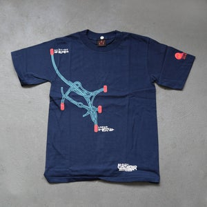 Image of TDR™SOYO™ /  NON™ VS SHOP33 TOKYO DISTANCE T-SHIRT (NAVY BLUE)