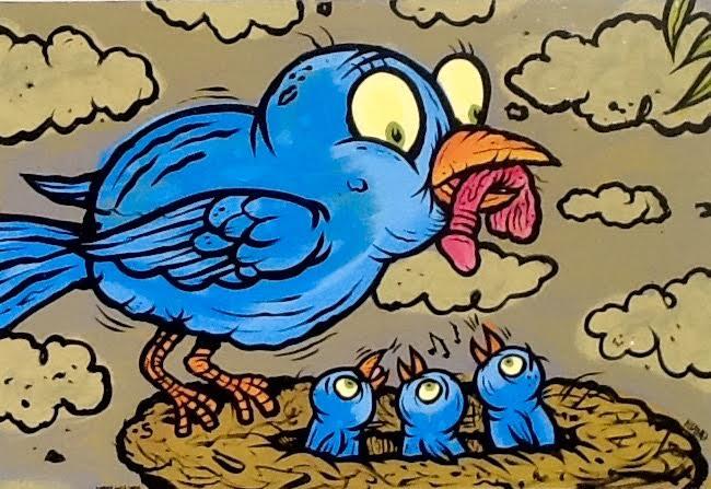 Image of Early bird jumbo magnet