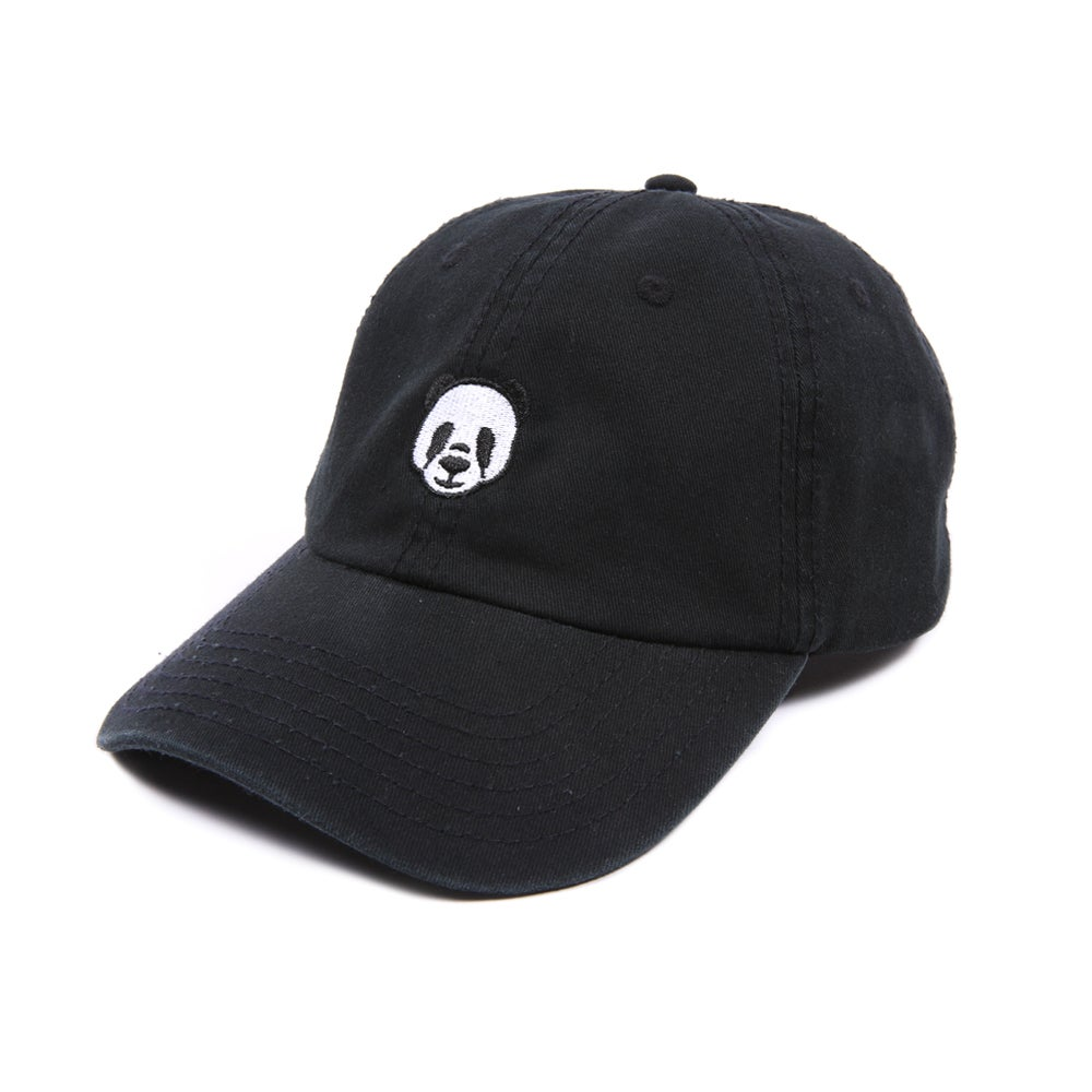Image of  Panda Low Profile Sports Cap - Black