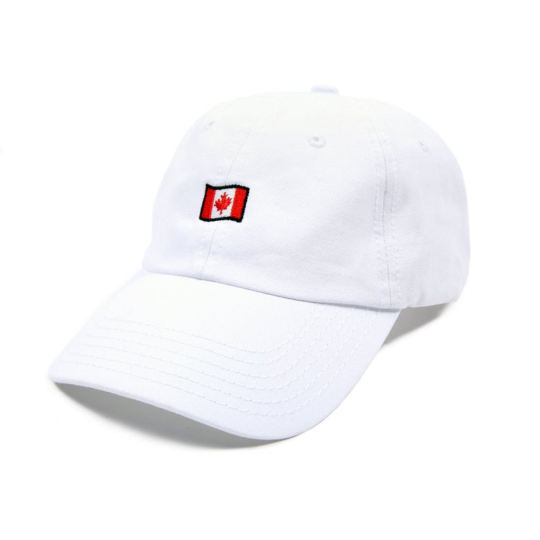 Image of  Canada Low Profile Sports Cap - White