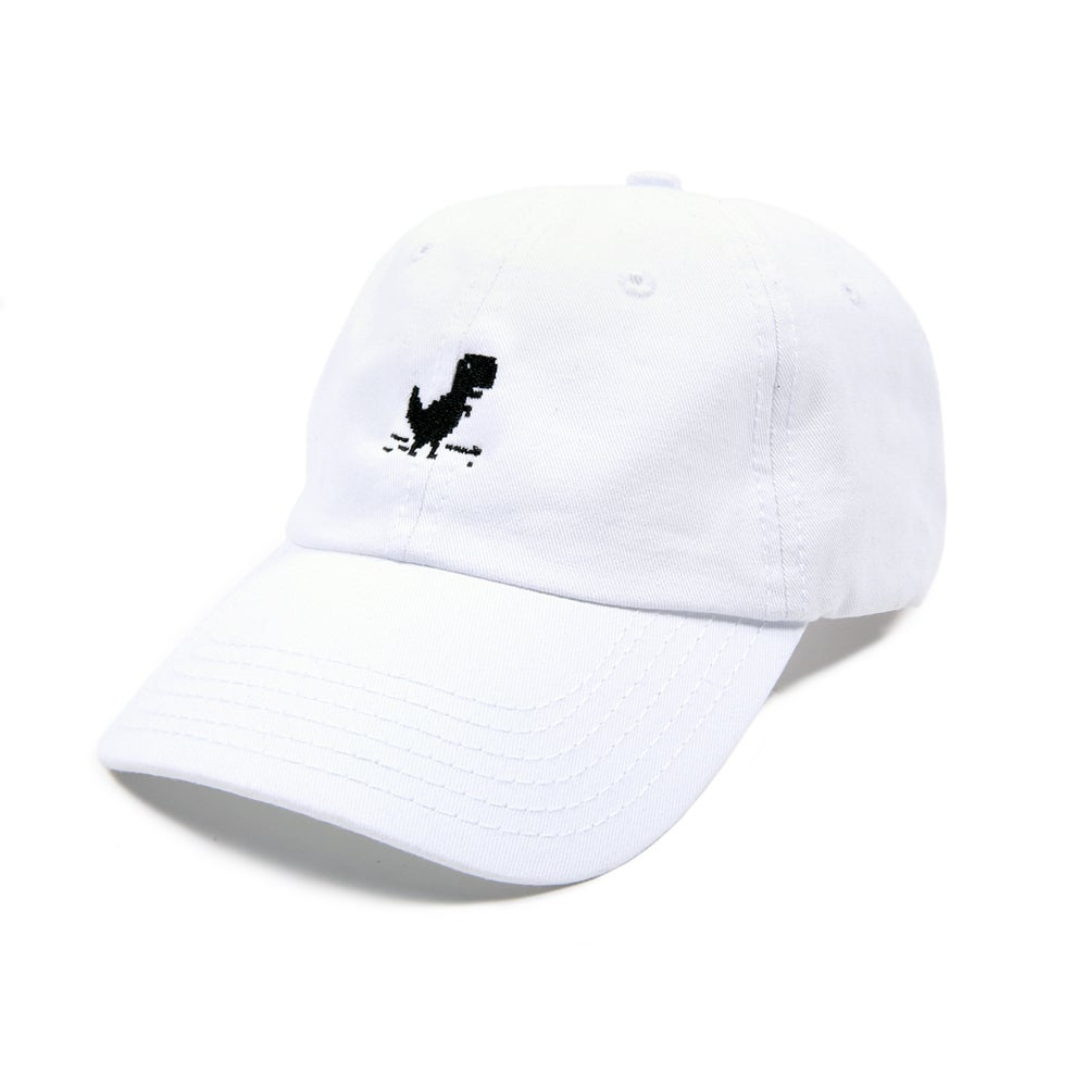 Image of  Dino Low Profile Sports Cap - White