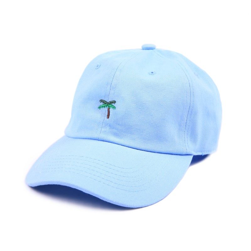 Image of Palm Tree Low Profile Sports Cap - Blue