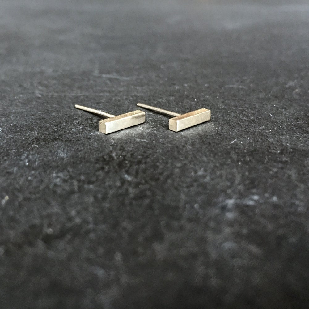 Image of Magic wand studs silver
