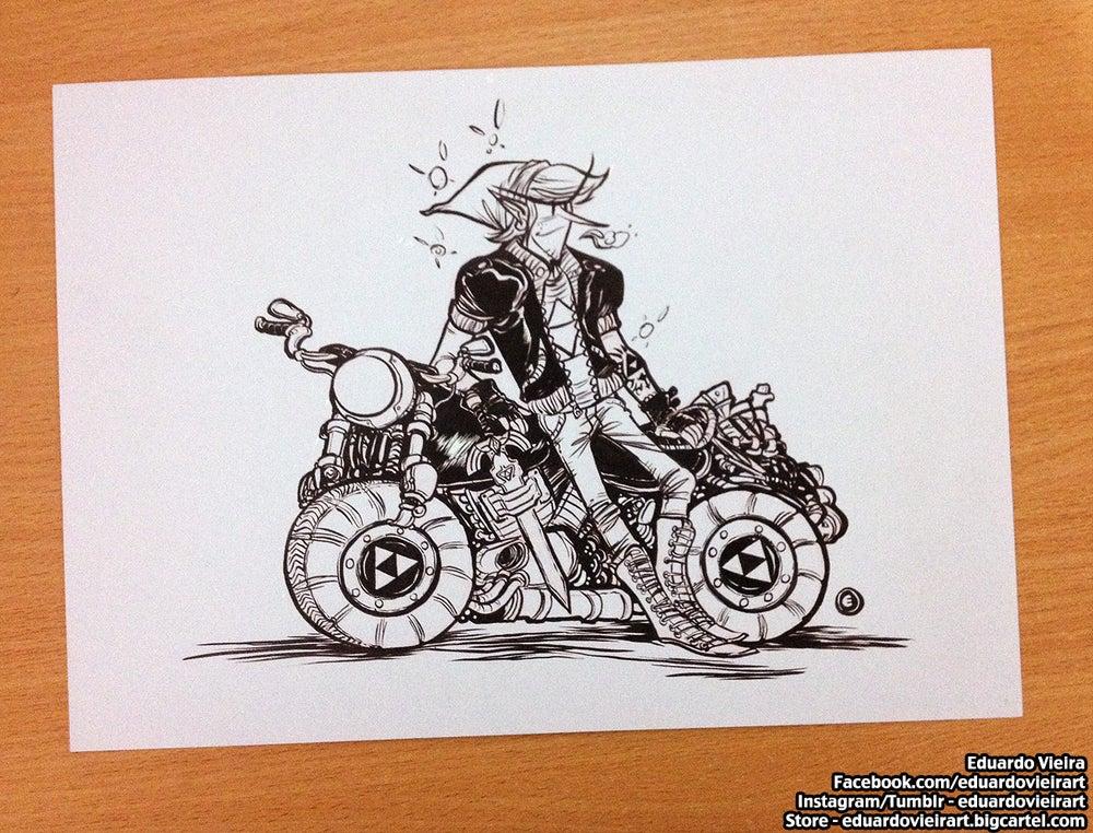 """Image of ORIGINAL ART - Biker Link (8.5"""" x 11"""")"""