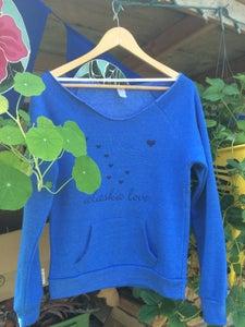 Image of Alaska Love Slouchy Sweatshirt- Pacific Blue