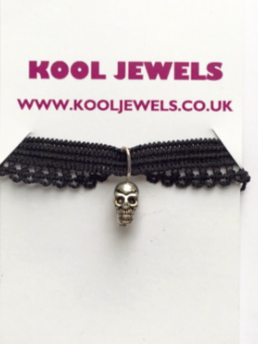 Image of Kool Jewels Mini Skull Charm Choker