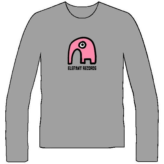 Image of ELEFANT LONG-SLEEVED T-SHIRTS: GREY (Various sizes)