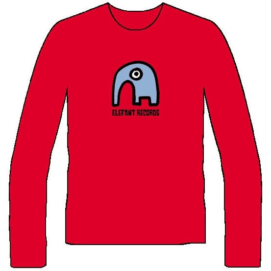 Image of ELEFANT LONG-SLEEVED T-SHIRTS: RED (Various sizes)