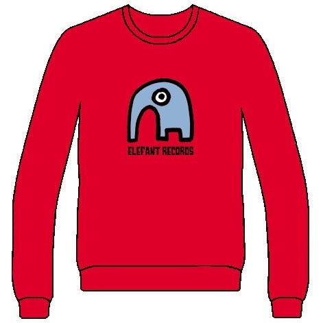 Image of ELEFANT SWEATSHIRT: RED (Various sizes)