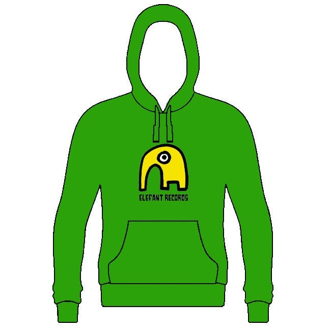 Image of ELEFANT HOODIE: GREEN (Various sizes)