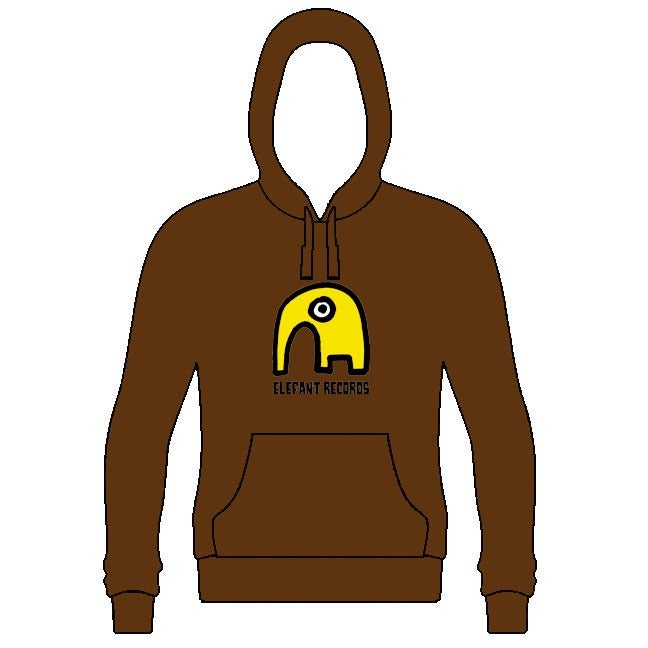 Image of ELEFANT HOODIE: BROWN (Various sizes)