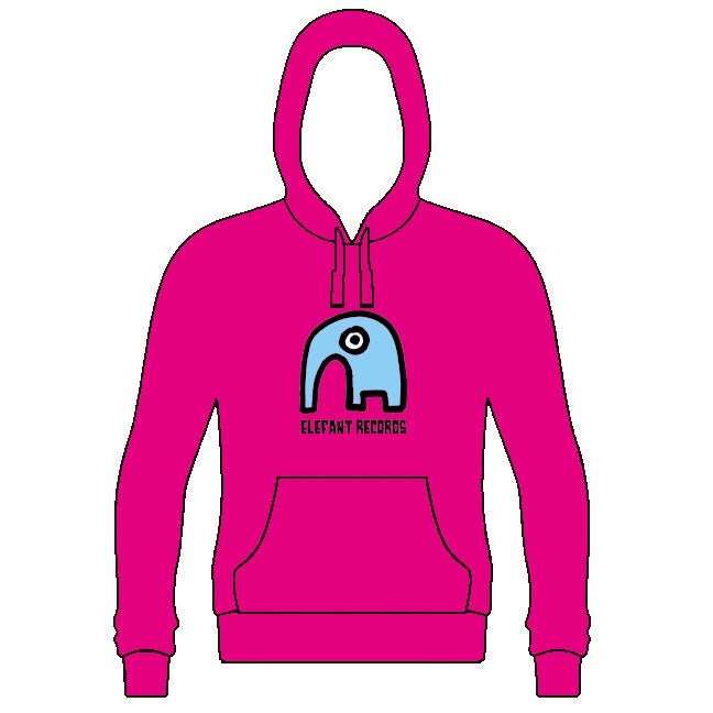Image of ELEFANT HOODIE: PINK (Various sizes)