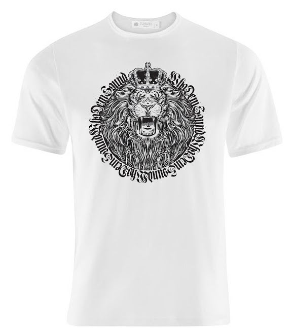 Image of White WhoDemSound LION TEE *Crown Edition (LIMITED RUN OF 50) PRE ORDER