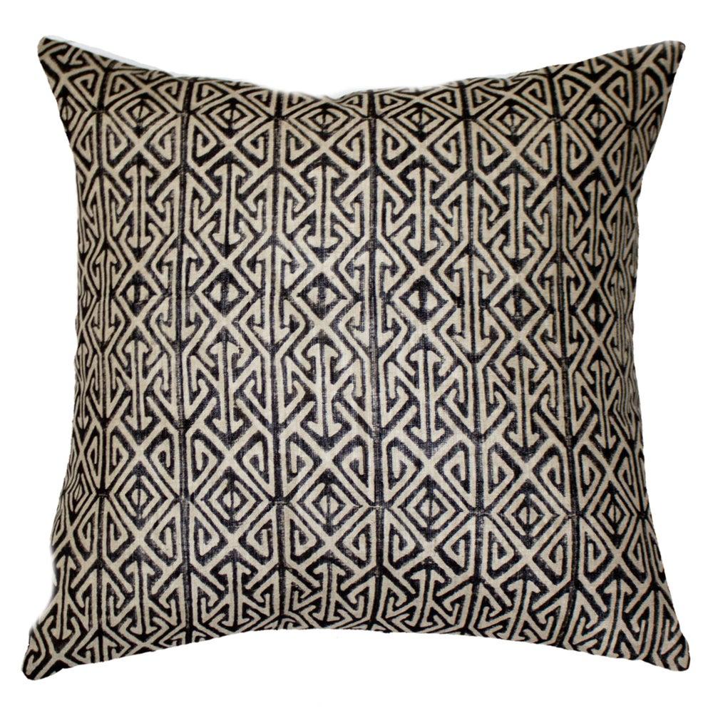 Image of Black Arrow Print Cushion