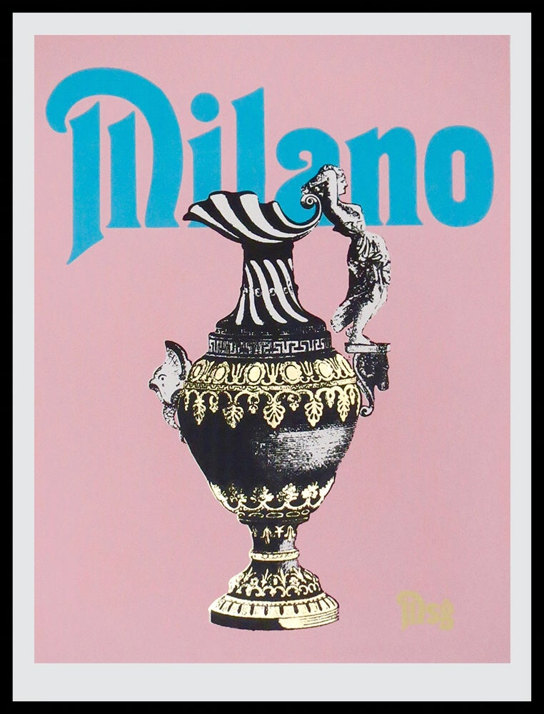Image of Milano -Pink/Baby Blue/Black