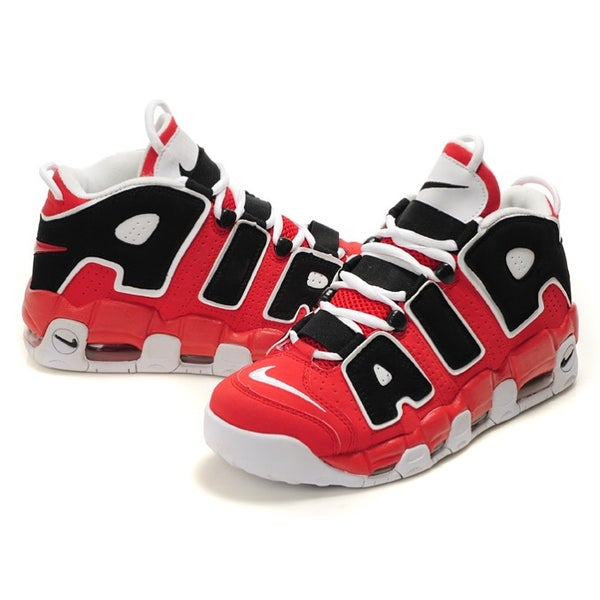 Image of NIKE UPTEMPOS RED BLACK WHITE | GS SIZES