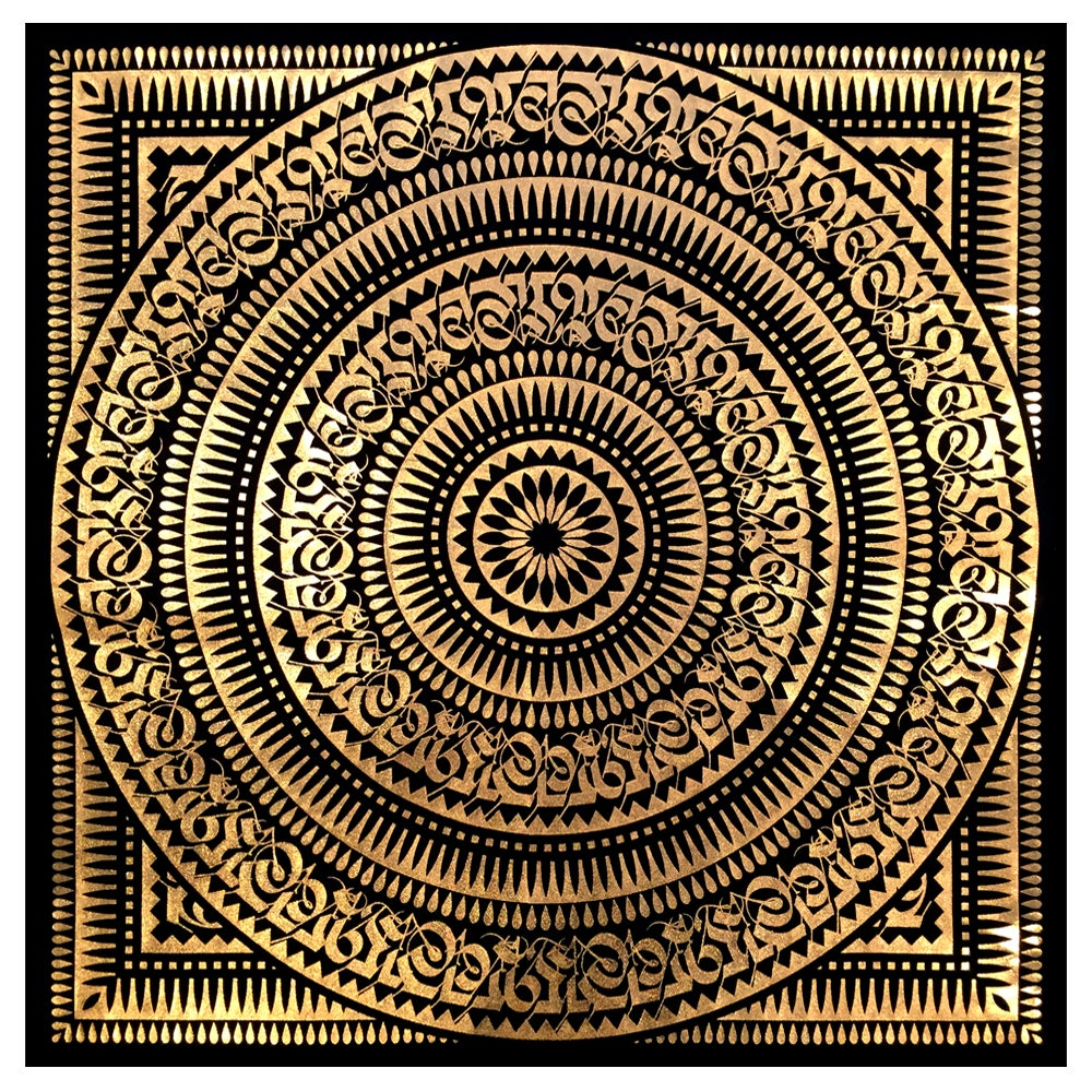 Image of GOLD FOIL BANDANA