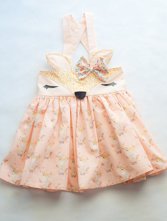 Image of Little Fawn High Waist Suspender Skirt