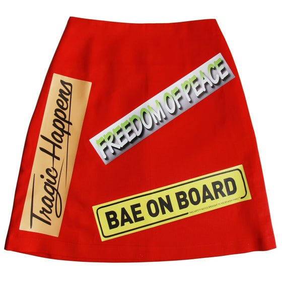 Image of BUMPER STICKER Skirt - Red