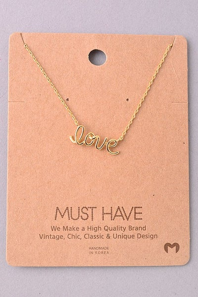 Image of Cursive Love Wire necklace