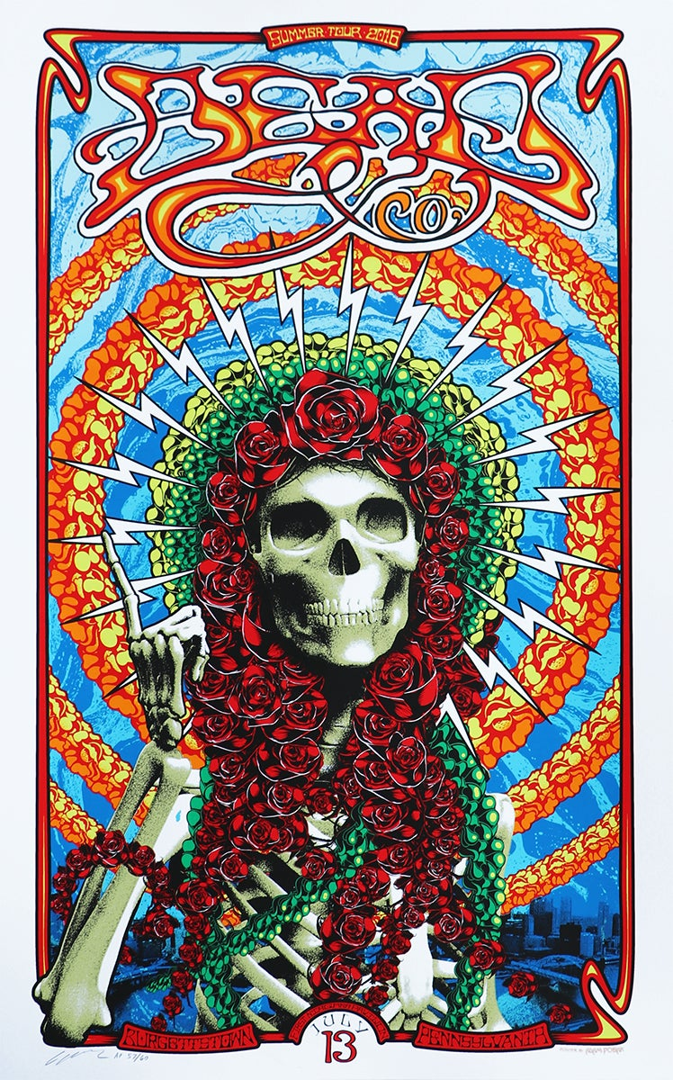 Image of SOLD OUT -  Dead & Company - Burgettstown (Pittsburgh) July 13 - Silkscreen Poster