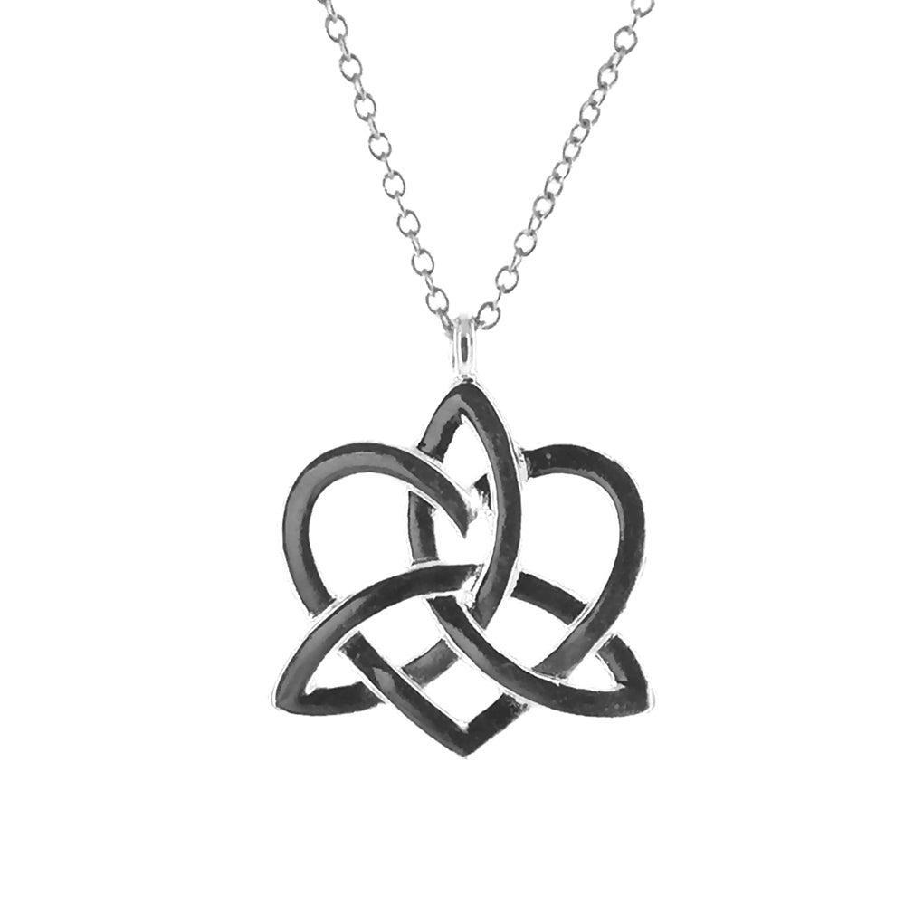 Triquetra Heart Charmed Necklace | Fallen saint Jewellery