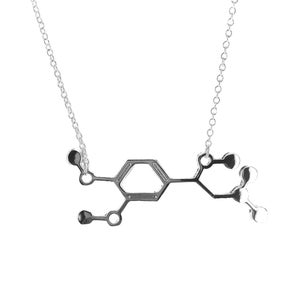 Image of  Adrenaline Molecule Necklace