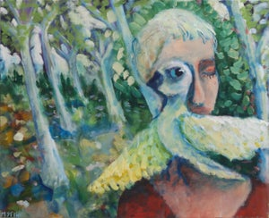 Image of Woman with bird