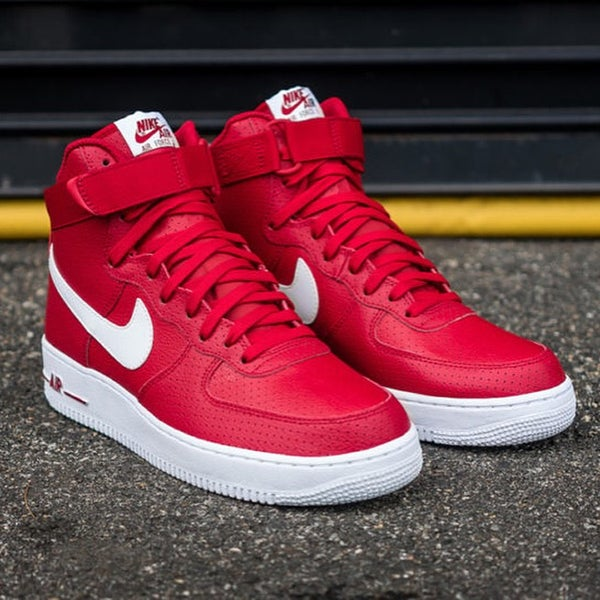 Image of NIKE AIR FORCE 1 PREMIUM RED/WHITE