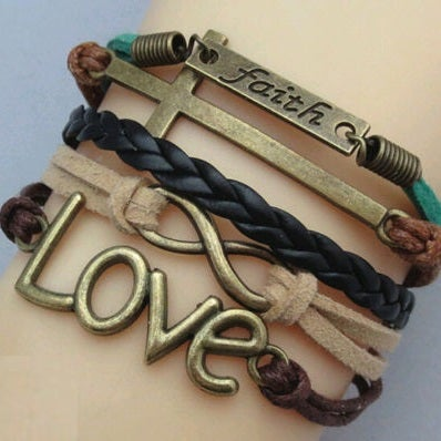 Image of BELIEVE-LOVE-FAITH DESIGNS BANGLE (Select from 5 Designs)