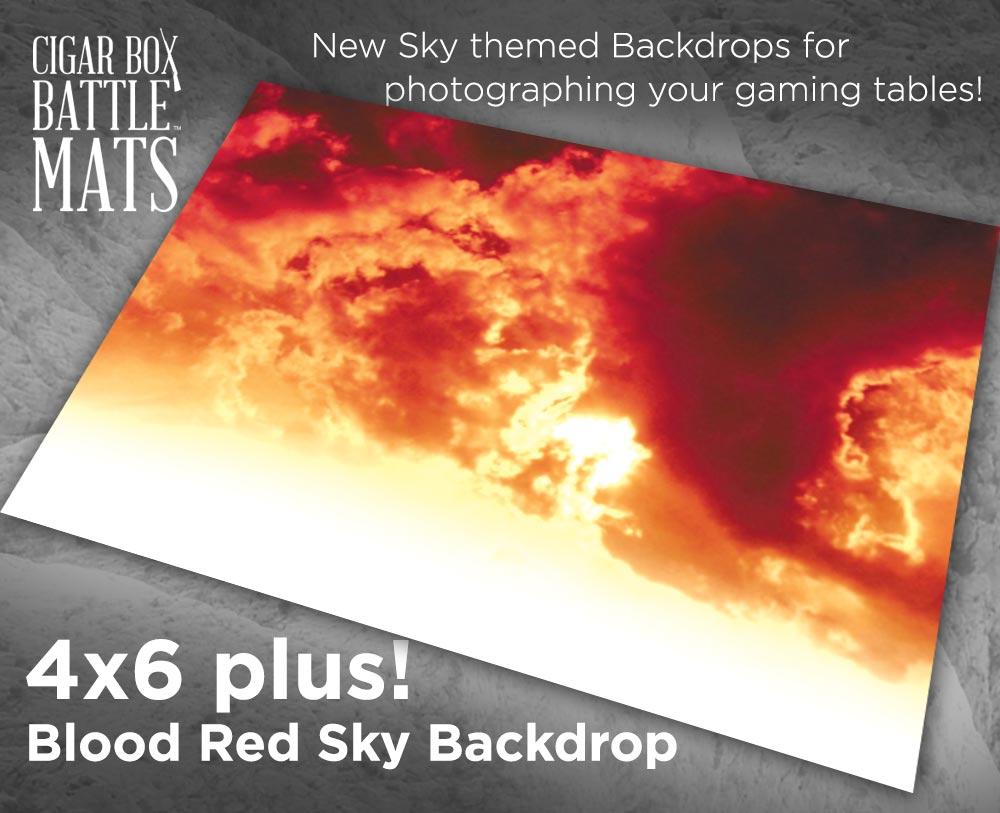 Image of Blood Red Sky Backdrop - 4' x 6' Plus -  #330