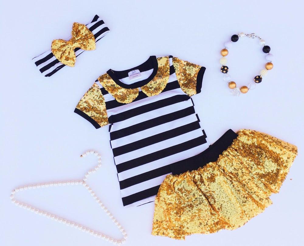 Image of Classy Gold Glamorous Skirt Set