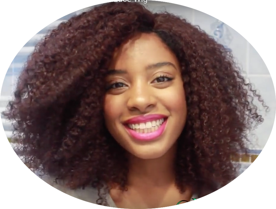 Image of Divaswigs.com Afro Curl Human Hair Full Lace Wig