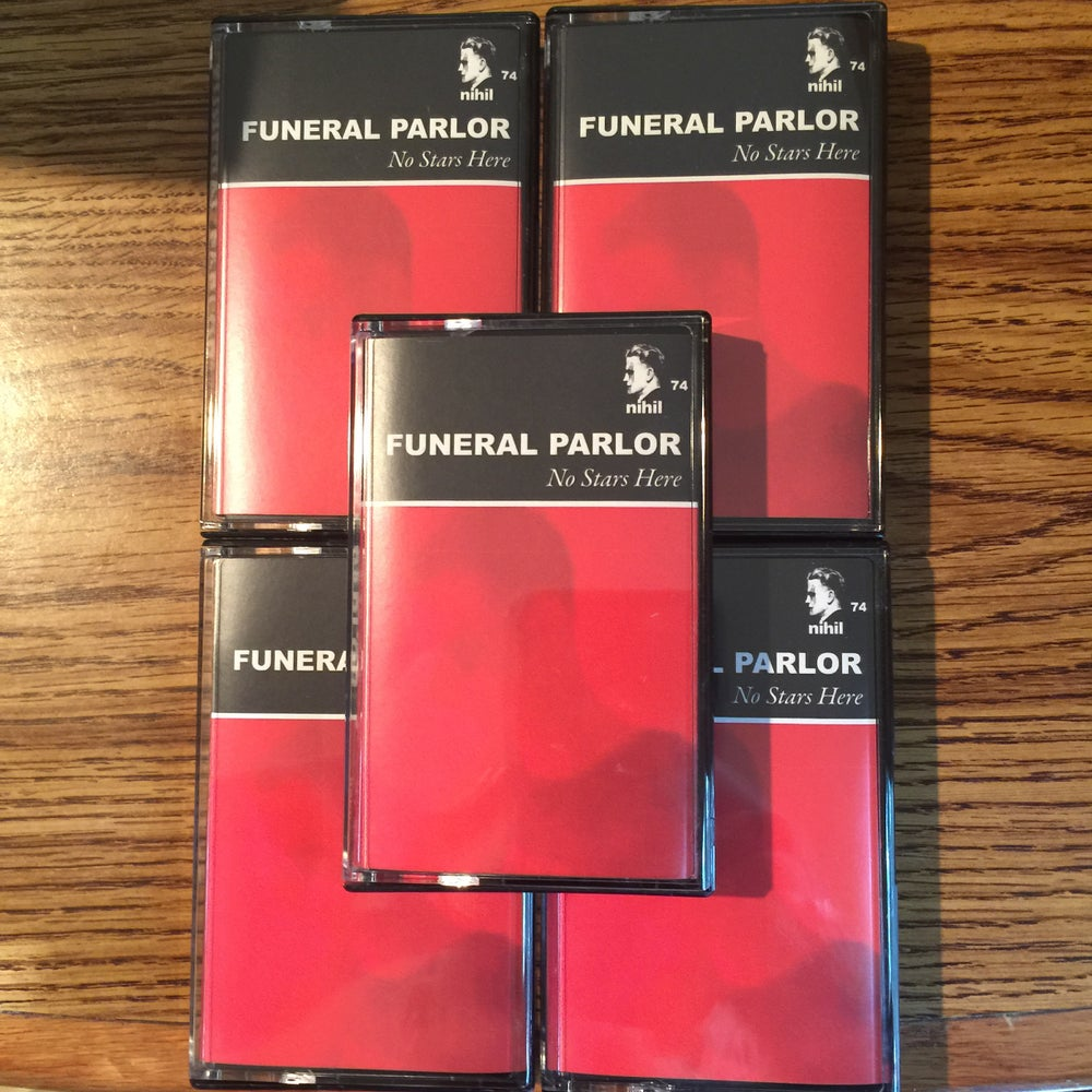 """Image of Funeral Parlor """"No Stars Here"""" tape"""