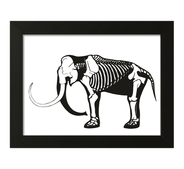 Image of Mammoth Skeleton Papercut