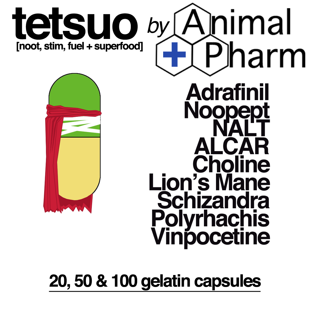Image of TETSUO Nootropic Blend *Adrafinil *Noopept *ALCAR and more!
