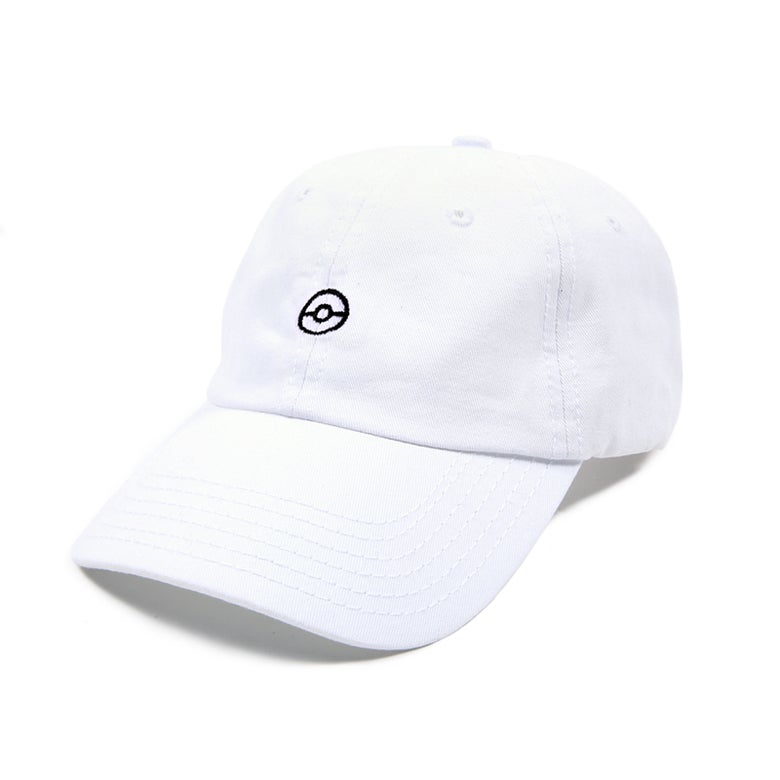 Image of Gotcha! Low Profile Sports Cap - White/Black