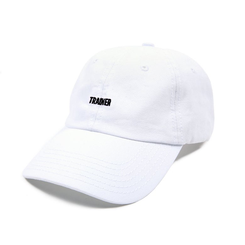 Image of Trainer Low Profile Sports Cap - White