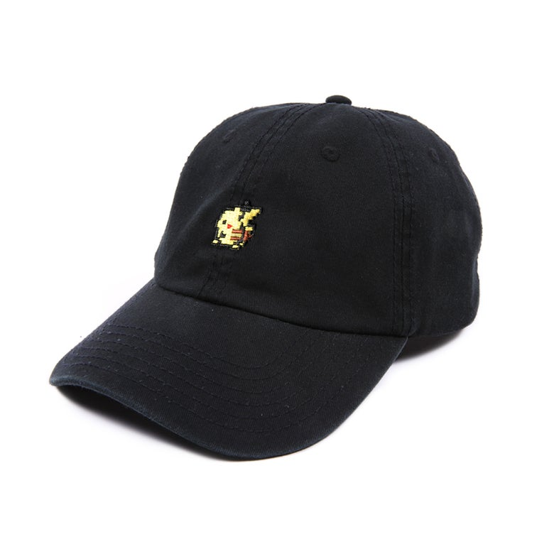 Image of Yellow Rat Low Profile Sports Cap - Black