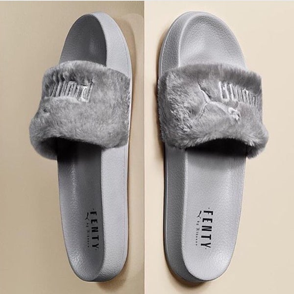 Image of PUMA FENTY SLIDES GREY