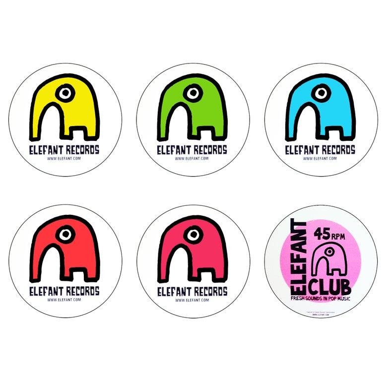 Image of ELEFANT STICKERS (Pack of 6)