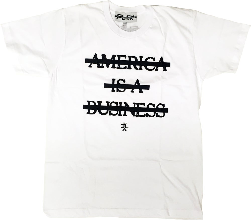 Image of America Is A Business (White)
