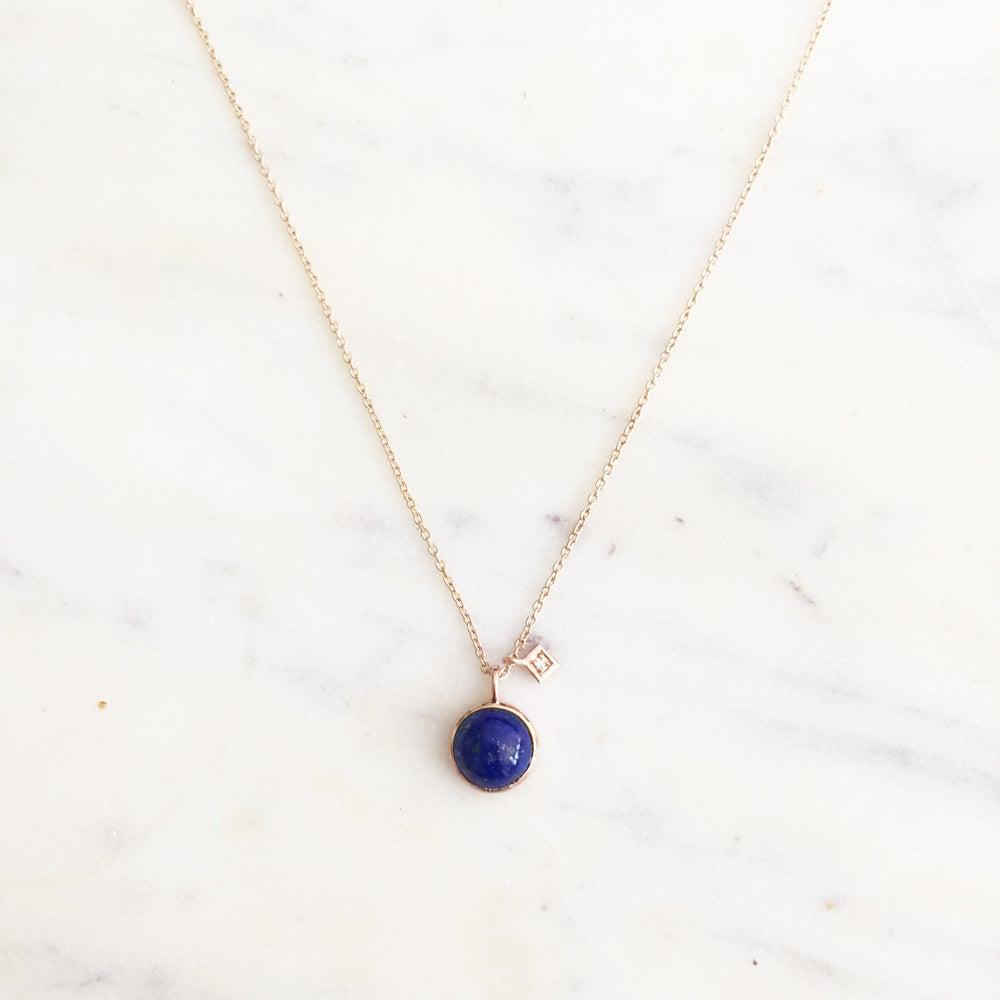 Image of Art Deco Blue Lapis Necklace