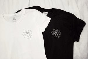 Image of Rose Unisex Tee White