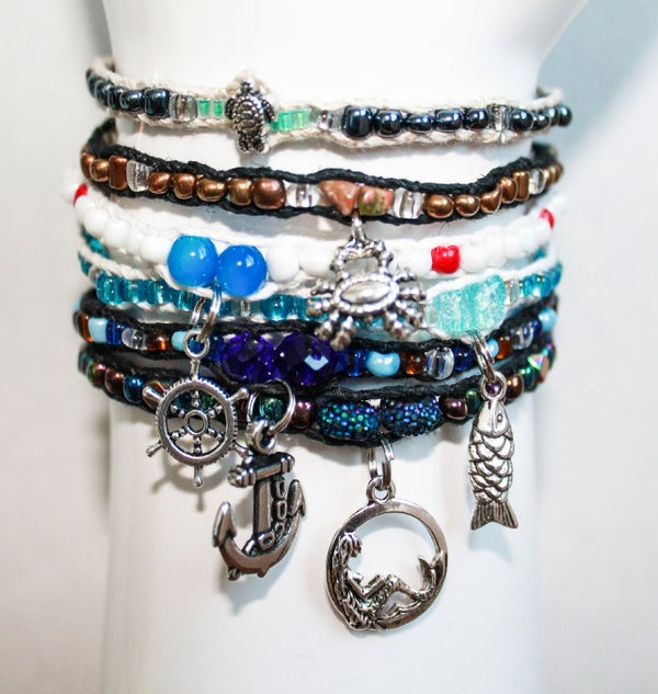 Image of B Mini Beaded Bracelets