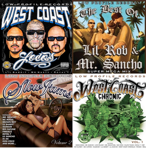 Image of Big CD Deal our new cd West Coast Loco +BEST OF LIL ROB & MR SANCHO +SLOW JAMS 2+ WESTCOAST CRONICA