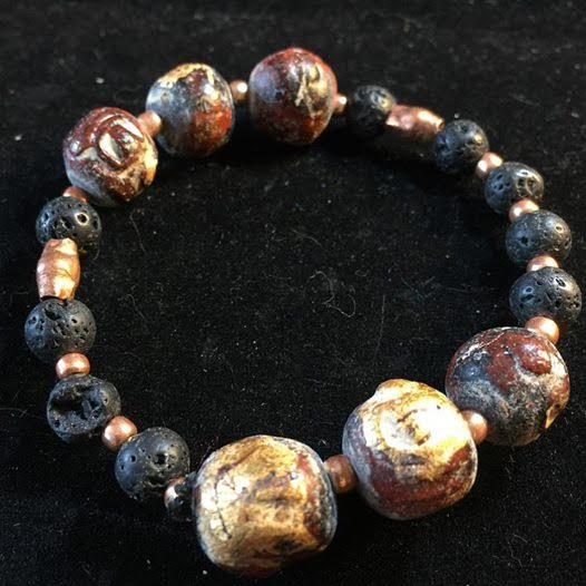 Image of IGNITE ~ your inner fire ~ Guru Beads, Copper and Volcanic Rock