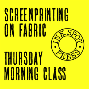Image of SCREENPRINTING ON FABRIC  Thursday morning class 10th. Nov - 14th. Dec. 2016