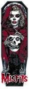 Image of MISFITS GHOST art print - CRIMSON RED