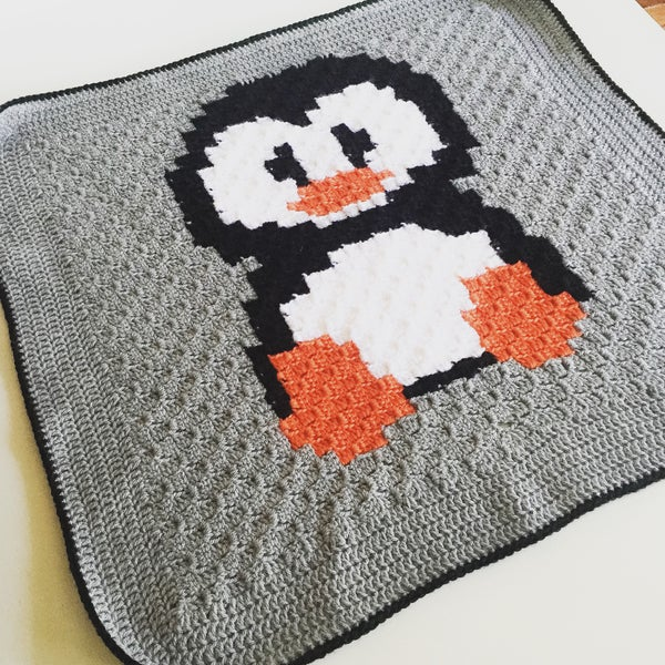 Image of Penguin Baby Blanket